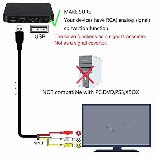 HDMI a 3rca Cable, Negro Negro Chenduomi HDMI a AV Convertidor 1080p HDMI a 3RCA //AV//CVBS Compuesto Video Audio Adaptador