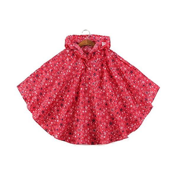Niños Ponchos lluvia Outwear abrigo impermeable ropa de deportes al aire libre ropa Rainwear 1