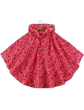 Bambini Pioggia Ponchos Outwear Cappotto Impermeabile Sports Abbigliamento Rainwear