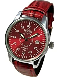 LIV MORRIS 1966RDLM01 - Reloj automático con correa de acero (cristal mineral)