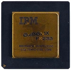 Processeur IBM Vintage 6x 86MX pr233goldcap