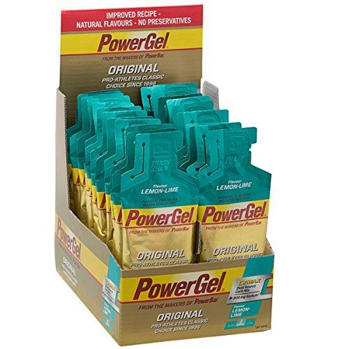 Power Gel ORIGINAL mit Kohlenhydraten, Maltodextrin & Natrium | Kohlenhydrat Gels ohne Konservierungsstoffe | Kohlenhydrat Gel Vegan - LIME LEMON 24 x 41 g
