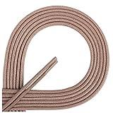Di Ficchiano Lacets ciré ronds premium Ø 2–3mm, longueur 45–120cm, indéchirable 75 cm Warmbeige