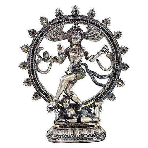 Estatua Shiva Nataraj cm 34Señor danza polirresina