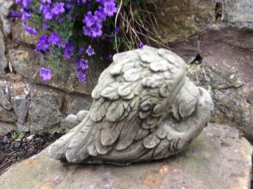 Stein Engel im Flügel schlafend Baby Garten Ornament Memorial