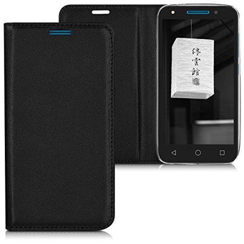 kwmobile Alcatel U5 (4G) Hülle - Kunstleder Handy Schutzhülle - Flip Cover Case für Alcatel U5 (4G)