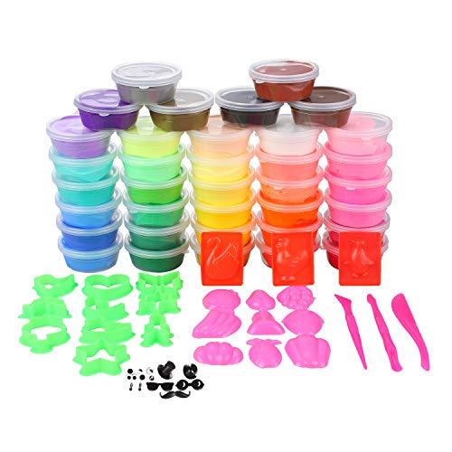 36 colores plastilina arcilla luz bricolaje modelado