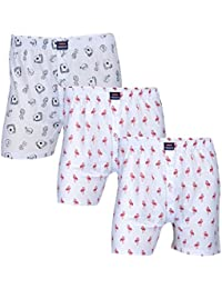 Feed Up Men's Cotton Hosiery Boxers Pack of 3