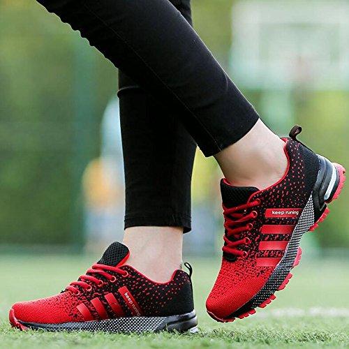 Uomo Donna Ginnastica Trekking Estive Sneakers Sportive Nero Rosso Blu Verde Rosa Rosso