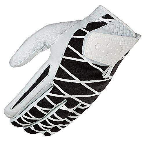 GRIP BOOST Herren Hand-Golfhandschuh Cabretta-Leder Schafsleder Rutschfeste Golfhandschuhe, Herren, Left, schwarz, Medium/Large