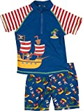Playshoes Jungen UV-Set Pirateninsel, Blau, 74-80, 460262