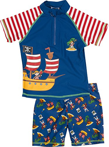 Playshoes Jungen UV-Set Pirateninsel, Blau, 86-92, 460262