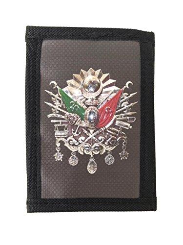 Geldbörse 'Abdulhamid' Osmanische Tugra für Herren - unisex - Stoff, Portemonnaie, Börse, Brieftasche, 8,5 cm x 12,5 cm x 2 cm -