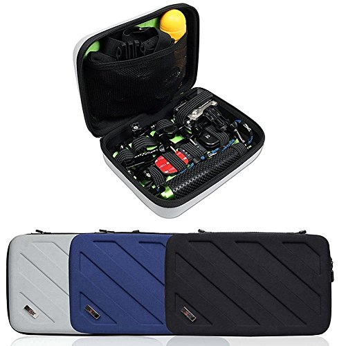 Price comparison product image BUBM Shockproof Carrying Case for Gopro Hero 6,5,4, 3+, 3, 2, 1 and Accessories - Ideal for Travel or Home Storage (Blue, L)