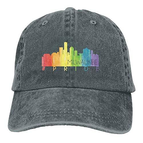 Jiusanlinn1 Adult Cowboy Hat Snapback Milwaukee Pride Denim Male Cute (Milwaukee's Best Kostüm)
