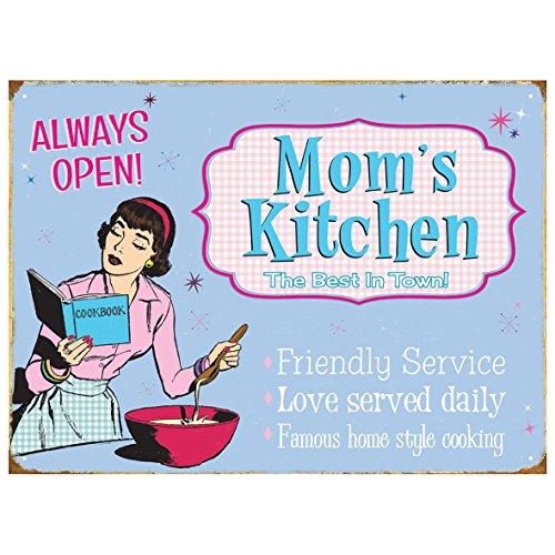 Preisvergleich Produktbild Rot Hot Lemon Mom 's Kitchen Metallschild, mehrfarbig