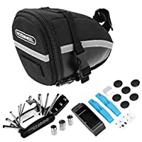 Decdeal Bike Repair Tool Kits Bicycle Saddle Bag Cycling Seat Pack 16 in 1 Multi Function Repair Tool Kit