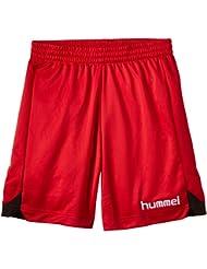 Hummel Shorts Roots Poly - Pantalones cortos de balonmano para niña, color rojo, talla DE: 14 - 16