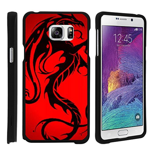 turtlearmor | Kompatibel für Samsung Galaxy Note 5 Fall | N920 [Slim Duo] Zwei Stück Hard Cover Slim Snap auf Fall auf Schwarz -, Red Dragon