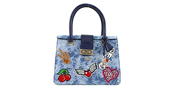 Guesselia Borsa a Mano Blue Denim: Amazon.it: Scarpe e borse