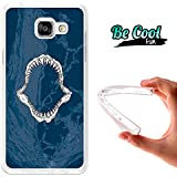 BeCool® Fun - Coque Etui Housse en GEL Flex Silicone TPU Samsung Galaxy A5 2016 , protège et s'adapte a la perfection a ton Smartphone et avec notre design exclusif.Mâchoire de Requin