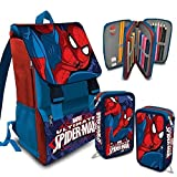 Splendido Kit Scuola School Pack Marvel con protagonista Ultimate Spiderman. Lo Zaino estensibile completamente ergonomico, è dotato di spallacci imbottiti che consentono di tenere comodamente il peso in spalla.  L'astuccio a 3 zip è accessor...