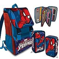 a4c5d6c062 Kit Scuola School Promo Pack Zaino Estensibile + Astuccio 3 Zip MARVEL  Spiderman Uomo Ragno Edizione 2016-2017 + OMAGGIO Kit Papermate Sharpie  Evidenziatori