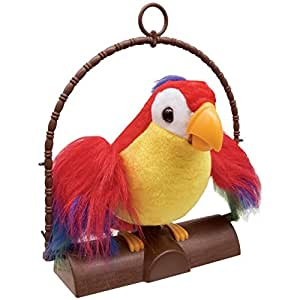 Repeat Talking Toy Parrot - Tew Andalso Talk Back Parrot Repeat Mimics Voice Flaps Wings