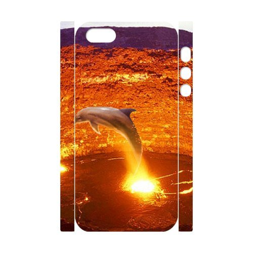 LP-LG Phone Case Of Dolphin For iPhone 5,5S [Pattern-6] Pattern-1