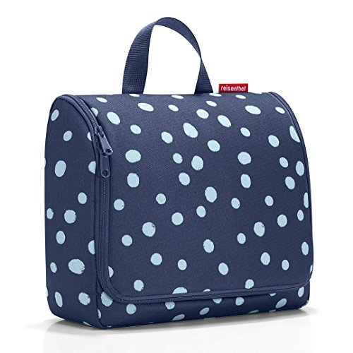 Reisenthel hängende Kulturtasche, für Übernachtung, leicht, groß Verschiedene Farben!, Spots Navy (mehrfarbig) - VA-UK-AZ-A100823