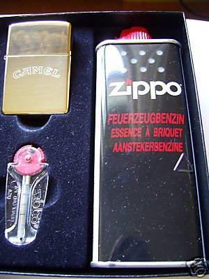 Zippo Feuerzeug Camel brass Geschenk-Set