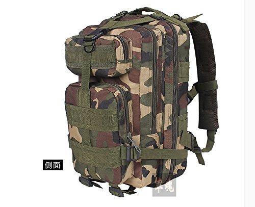 I pacchi postali doppia spalla zaino 3p attentato contro pack outdoor alpinismo camouflage Borsa Commando speciale multi-funzione pack di carica, tre sabbia camouflage Nero