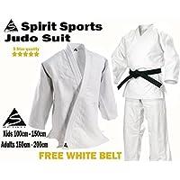 Uniforme de entrenamiento de Judo 550grm Spirit Sports 100% cotón (160cm)