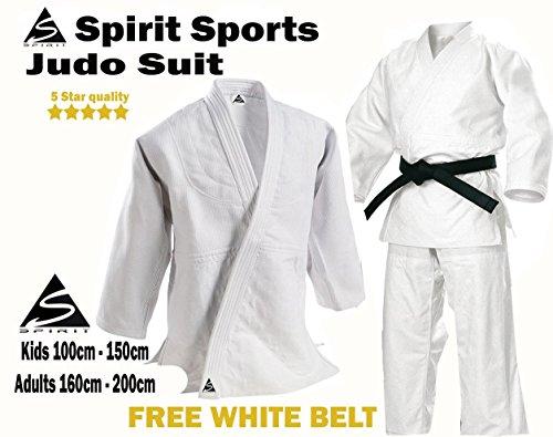 Peso (550g- Med-ideal para regular entrenamiento) disponible en color blanco. Este fácil y cómodo de llevar traje está hecho de 100% algodón, 550g. Viene con pantalones con cintura elástica y cordón para todos los tamaños-con rodilleras. Se cons...