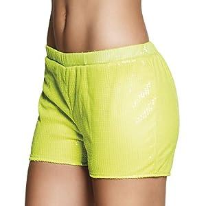 Boland Pantalón corto con brillantes amarillo neón para mujer