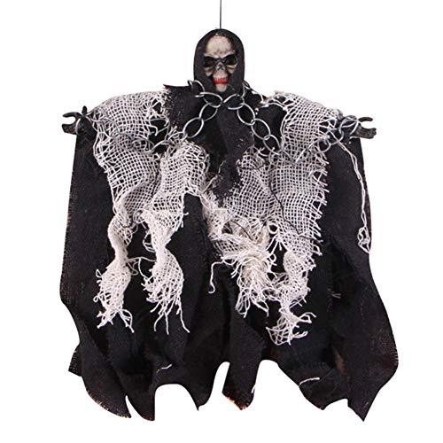 Halloween Hanging Ghost Dekoration Sound Control Skeleton Halloween Requisiten Startseite Outdoor-Ornamente