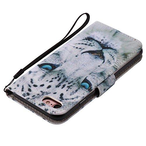 PU iPhone 7 (4.7 pouces) Motif Imprimé Étui Housse en Cuir Ultra-mince Fermeture Aimantée Housse de Protection Coque pour Apple iPhone 7 (4.7 pouces) Étui Case Cover avec Stand Support