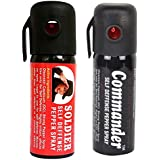 GA+ Presents Pack Of (Soldier + Commander Self Defence Pepper Spray) For Women Safety/Protection Single 50ML