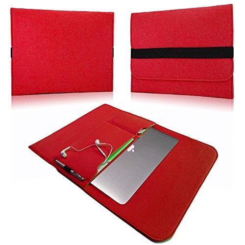 NAUC Laptoptasche Sleeve Schutztasche Hülle für Tablets Macbook Netbook Ultrabook Laptop Case in verschiedenen Farben kompatibel mit z.B. Samsung Apple Asus Medion Lenovo uvm., Farben:Rot, Für Notebook:Sony VAIO VPC-Z21C5E