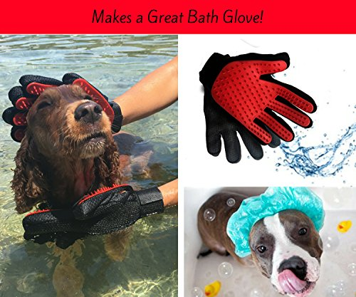 Moggiez & Doggiez PET GROOMING GLOVE/DESHEDDING BRUSH – Pack of Two Gloves –Effective Cat and Dog Hair Remover… 7