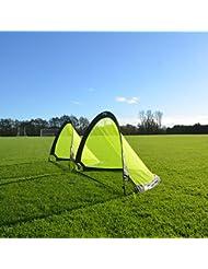 FORZA Flash Pop-Up Fußballtor (Paar), verfügbar in 0.76m, 1.21m & 1.82m für sofortigen Spaß!