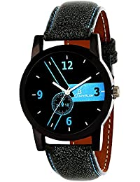 Jack Klein Trendy Black Dial Blue Strap Quartz Watch For Men/Boys
