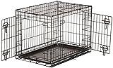 AmazonBasics Double-Door Folding Metal Dog Crate, 76 cm