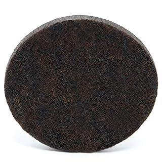 Adsamm® 4x Premium felt pads |Ø 2.36'' (60 mm) | round | brown | self-adhesive furniture glides in Premium-quality (0.216'' / 5.5 mm)