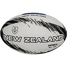 online store 03971 cc14d Gilbert Supporter Zelanda Balón de Rugby, Unisex Adulto, Gris, 5