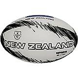 Gilbert Supporter Neuseeland Rugby Ball, Unisex Erwachsene, Grau, 5