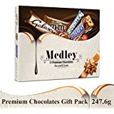 SNICKERS Medley Assorted Chocolates Gift Pack (Snickers, Bounty, M&M's, Galaxy), 247.6g