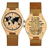Gravierte Holz Bambus Uhr für Männer personalisierte Geburtstag Geburtstagsgeschenk für Mann und Sohn (for Son from Mom)