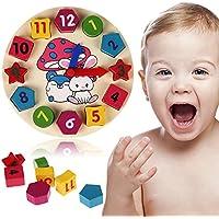Domybest Nueva Madera 12 Número colorido puzzle de juguete educativo del bebé del jugar