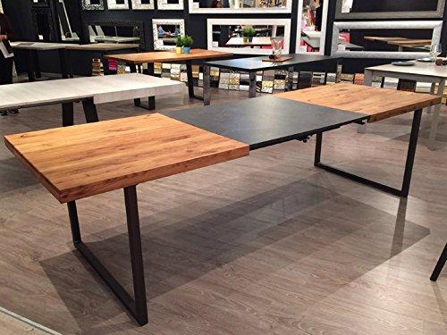 Esstisch Eiche massiv 180x90cm erweiterbar Ausziehtisch Küchentisch Esszimmertisch Tisch ausziehbar Massivholztisch Eiche 180/230/280x90cm